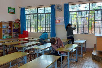 Công tác chuẩn bị đón học sinh trở lại trường sau kì nghỉ Tết Nguyên đán Tân Sửu 2021 của các trường học trên địa bàn thành phố Buôn Ma Thuột