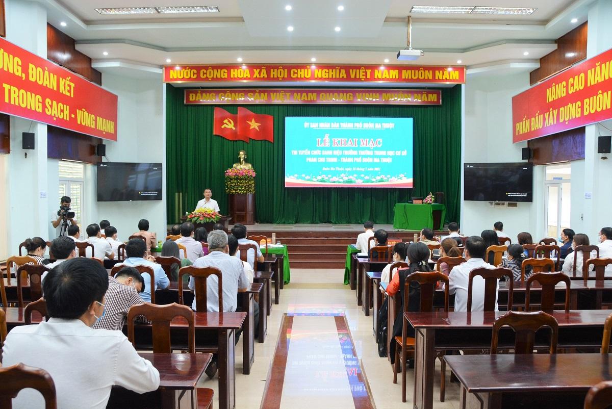 Thi tuyển chức danh Hiệu trưởng trường THCS Phan Chu Trinh, TP.Buôn Ma Thuột